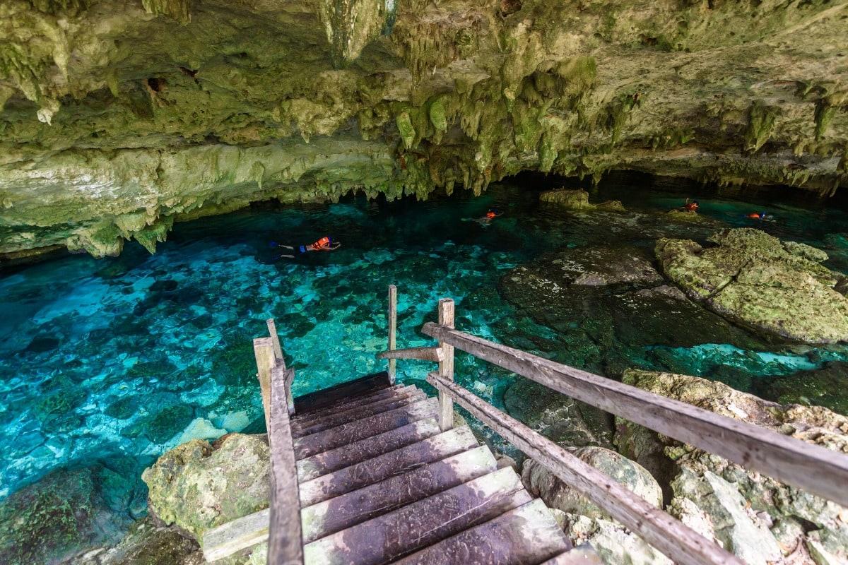Cenote in the Riviera Maya, Mexico