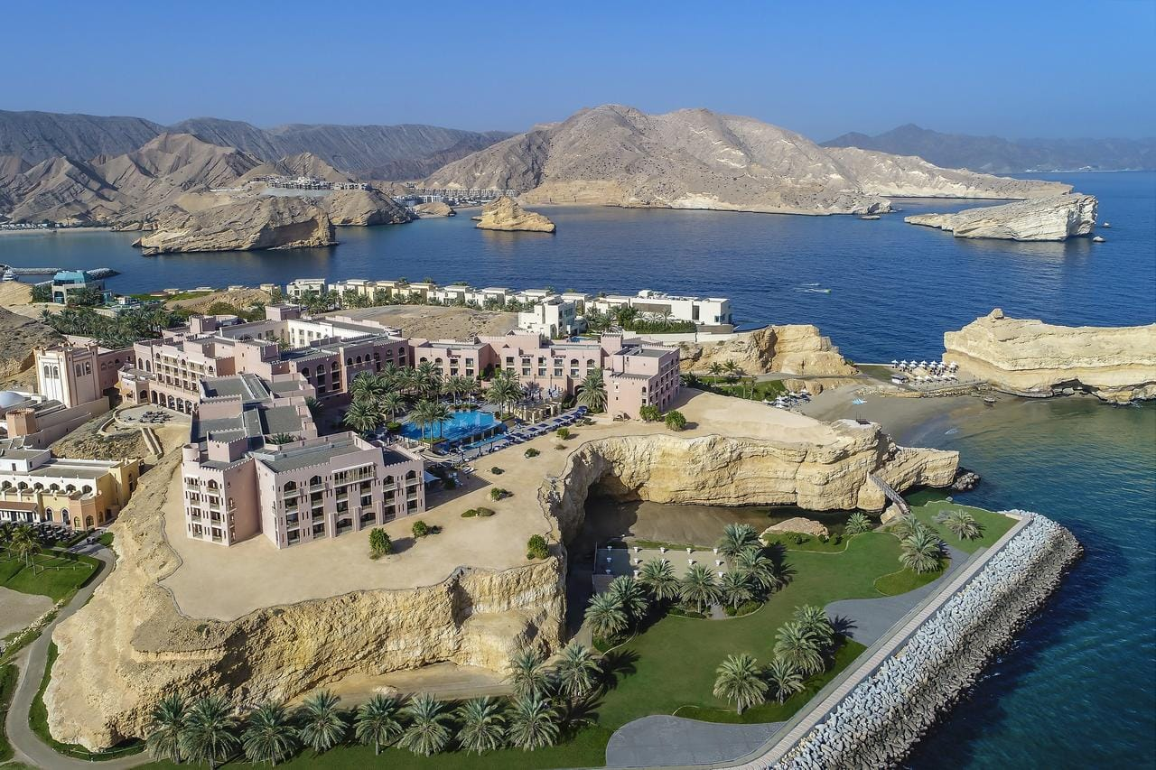 Incredible setting of the Shangri-La Al Husn Resort & Spa in Muscat