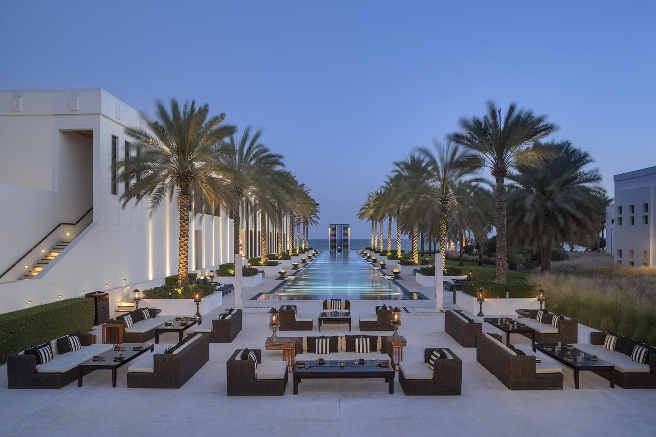 Impressive pool at The Chedi Muscat