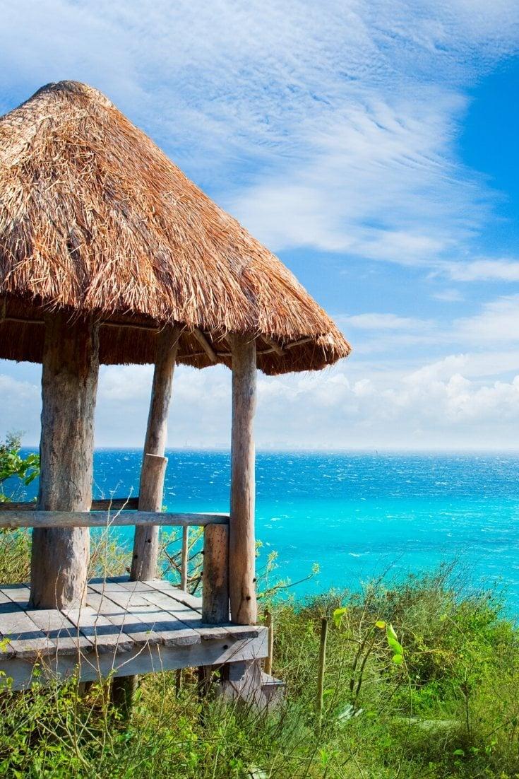 Beautiful holiday views in Isla Mujeres, Mexico