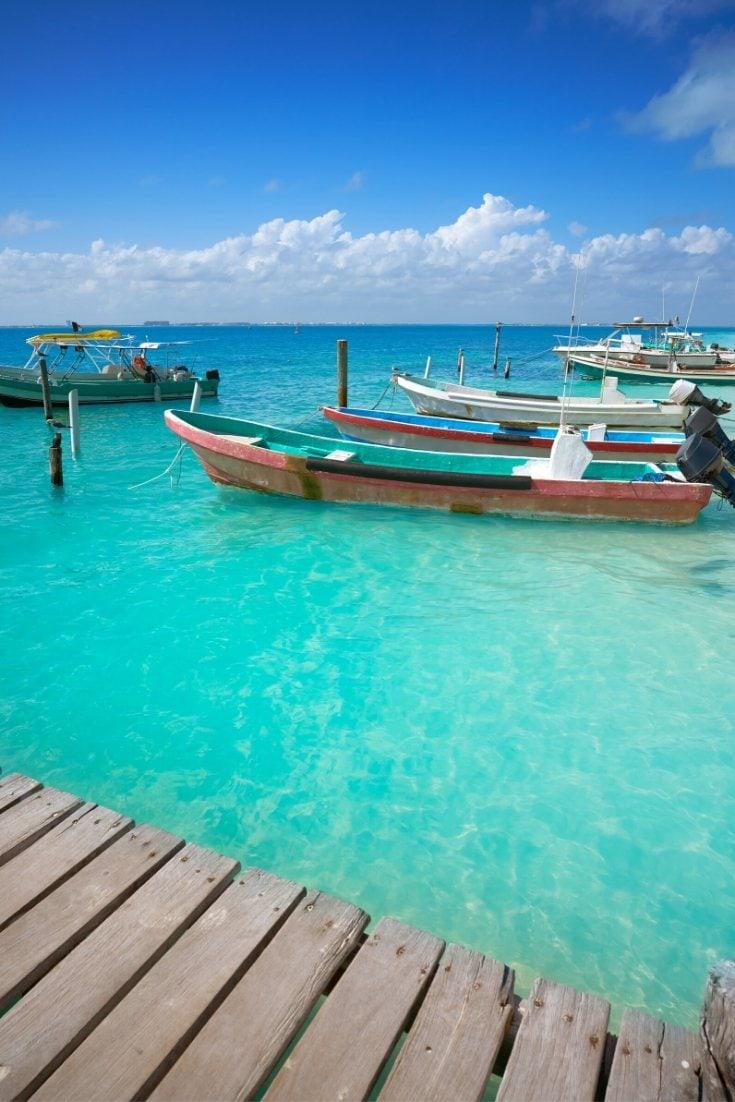 Boats in Isla Mujeres, Mexico