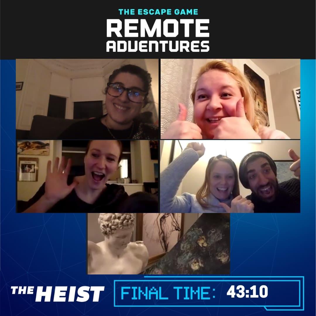 The Escape Game - The Heist remote adventure