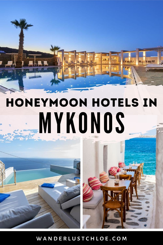 best honeymoon hotels in Mykonos