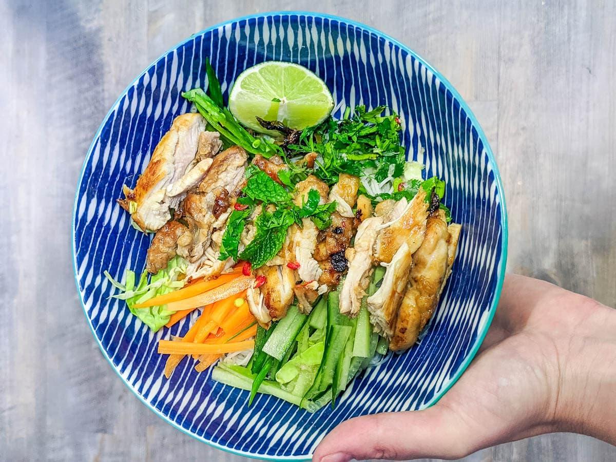 Vietnamese lemongrass chicken and noodles