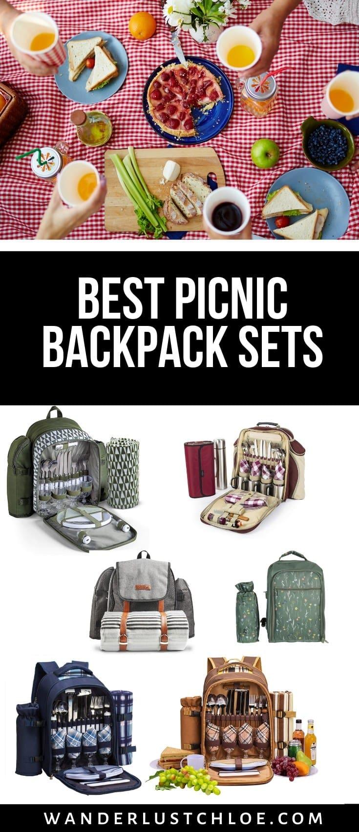 Picnic backpack sets