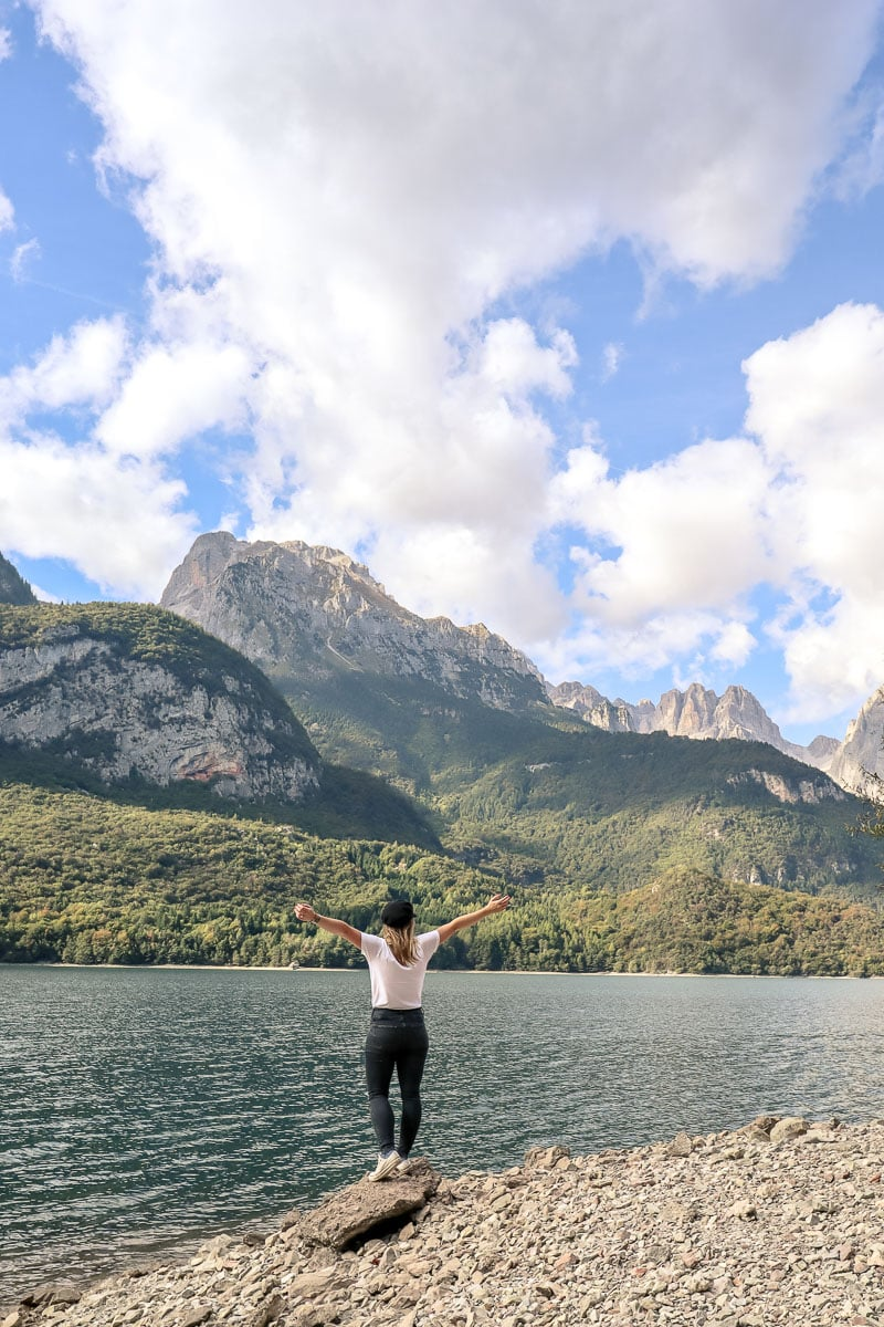 If you go off the beaten track in Europe you might find beautiful spots like Lake Molveno