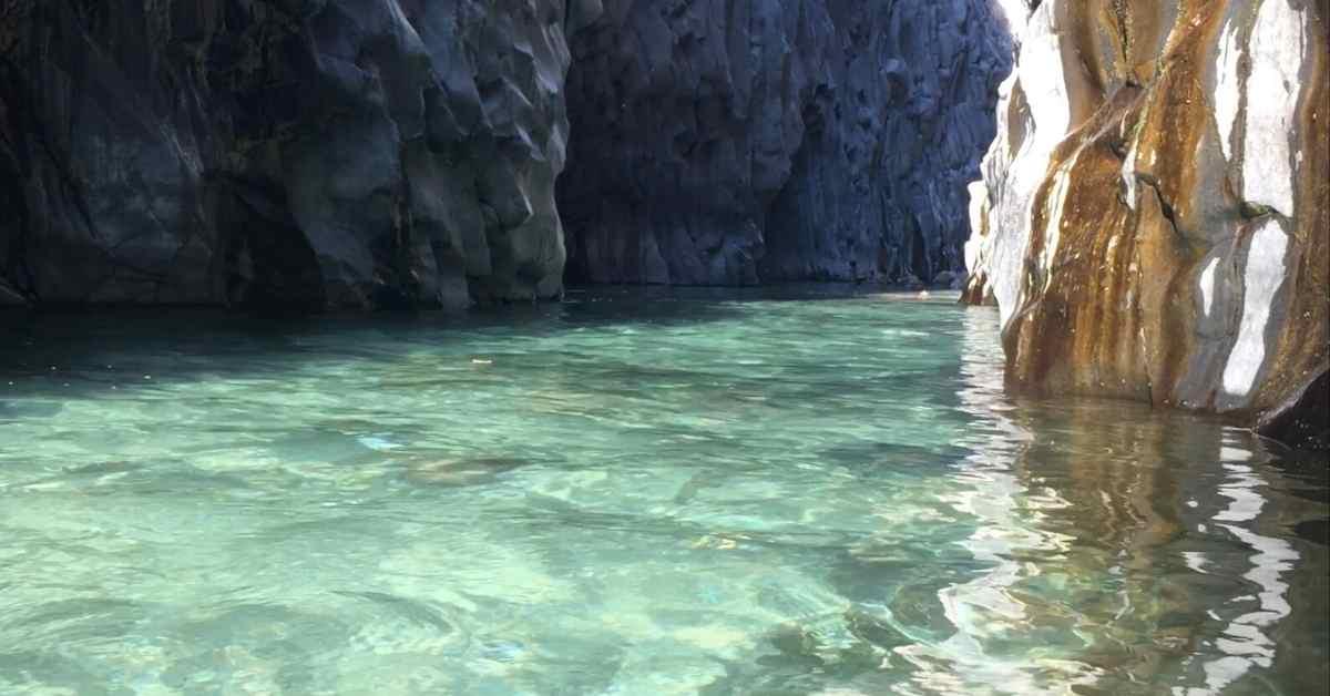 Alcantara Gorge Park near Taormina, Sicily