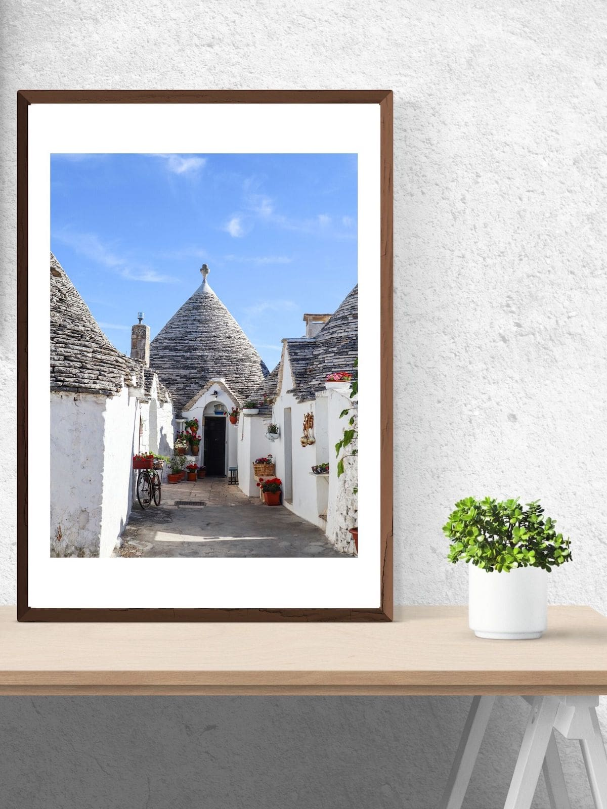 Alberobello Puglia print in the Travel Print Store