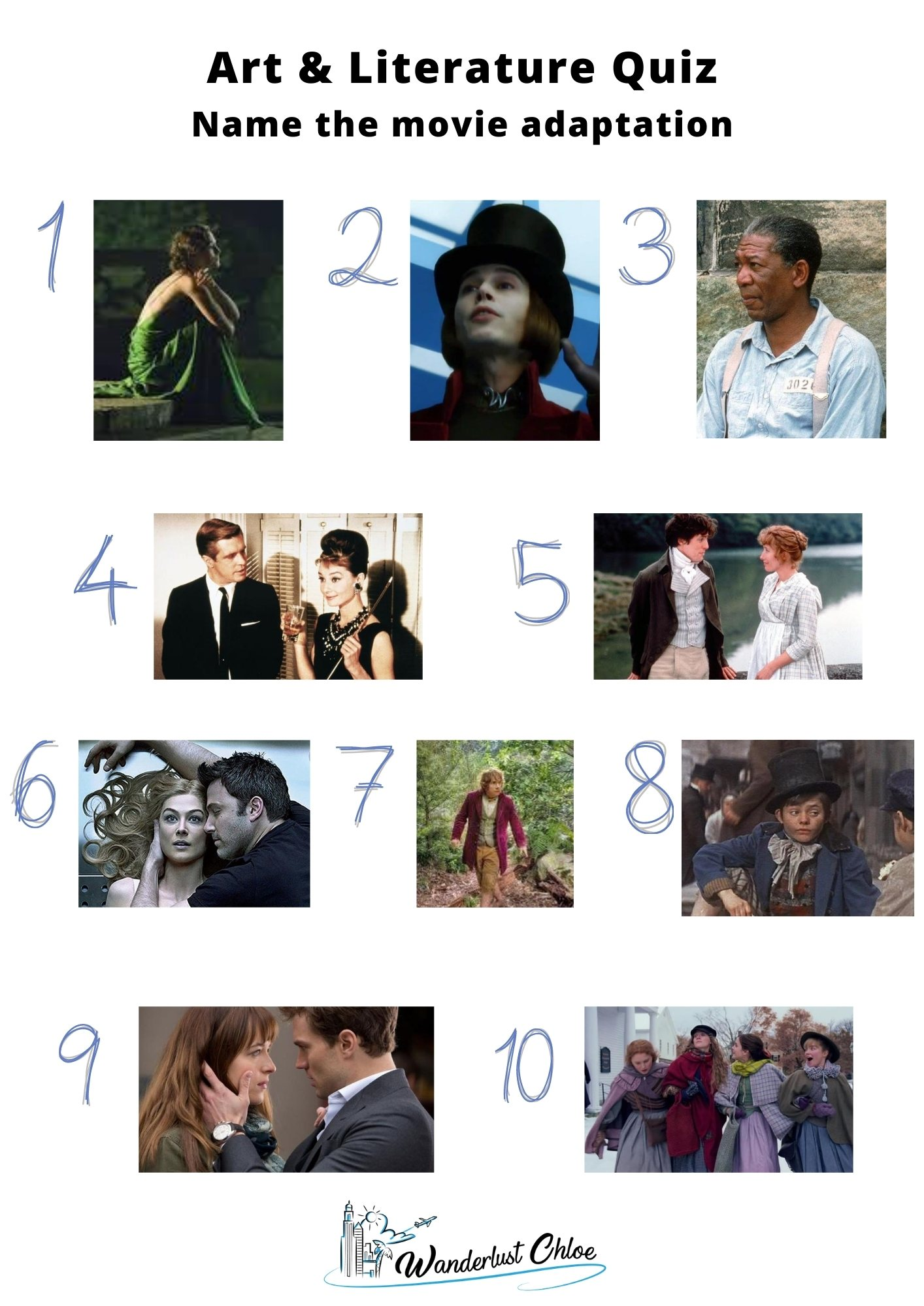 Round 3 - Art and Literature Quiz Questions: Picture Round
