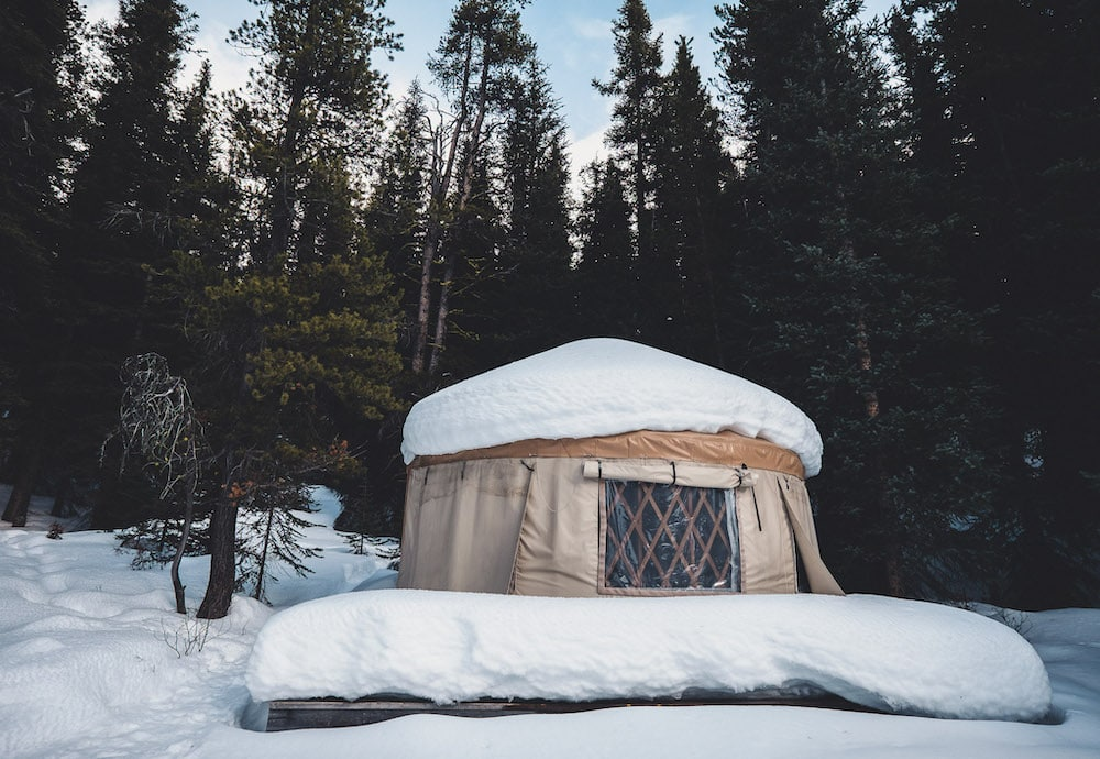 Yurt at Mount Engadine Lodge