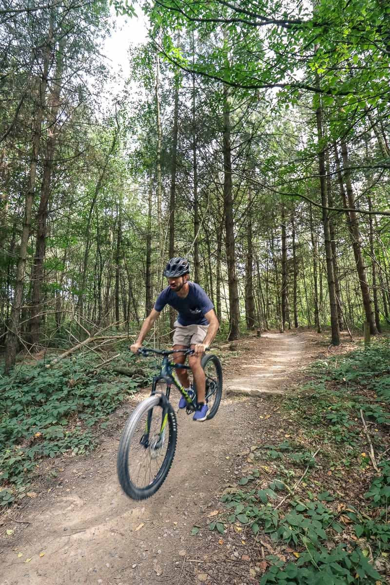 Mountain biking in Bedgebury Pinetum and Forest