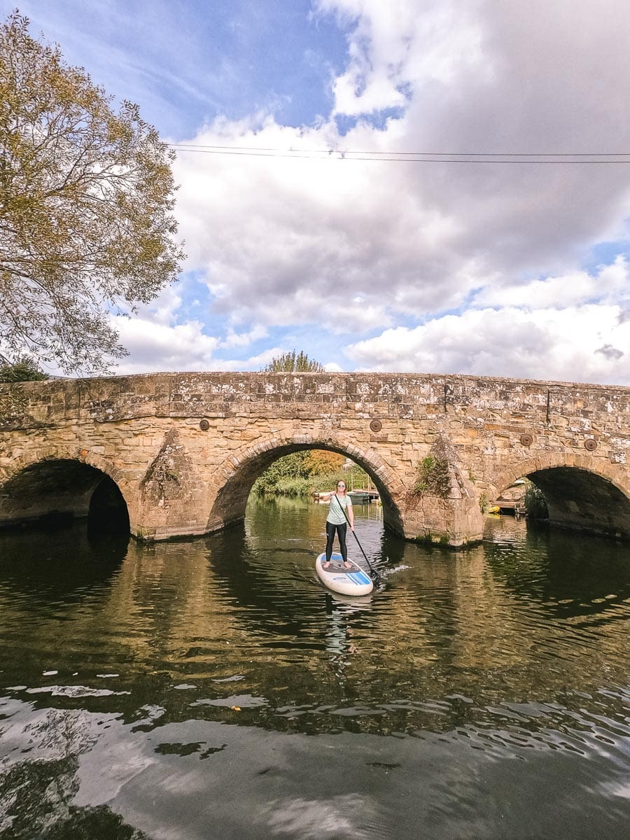 Paddle boarding on the River Rother