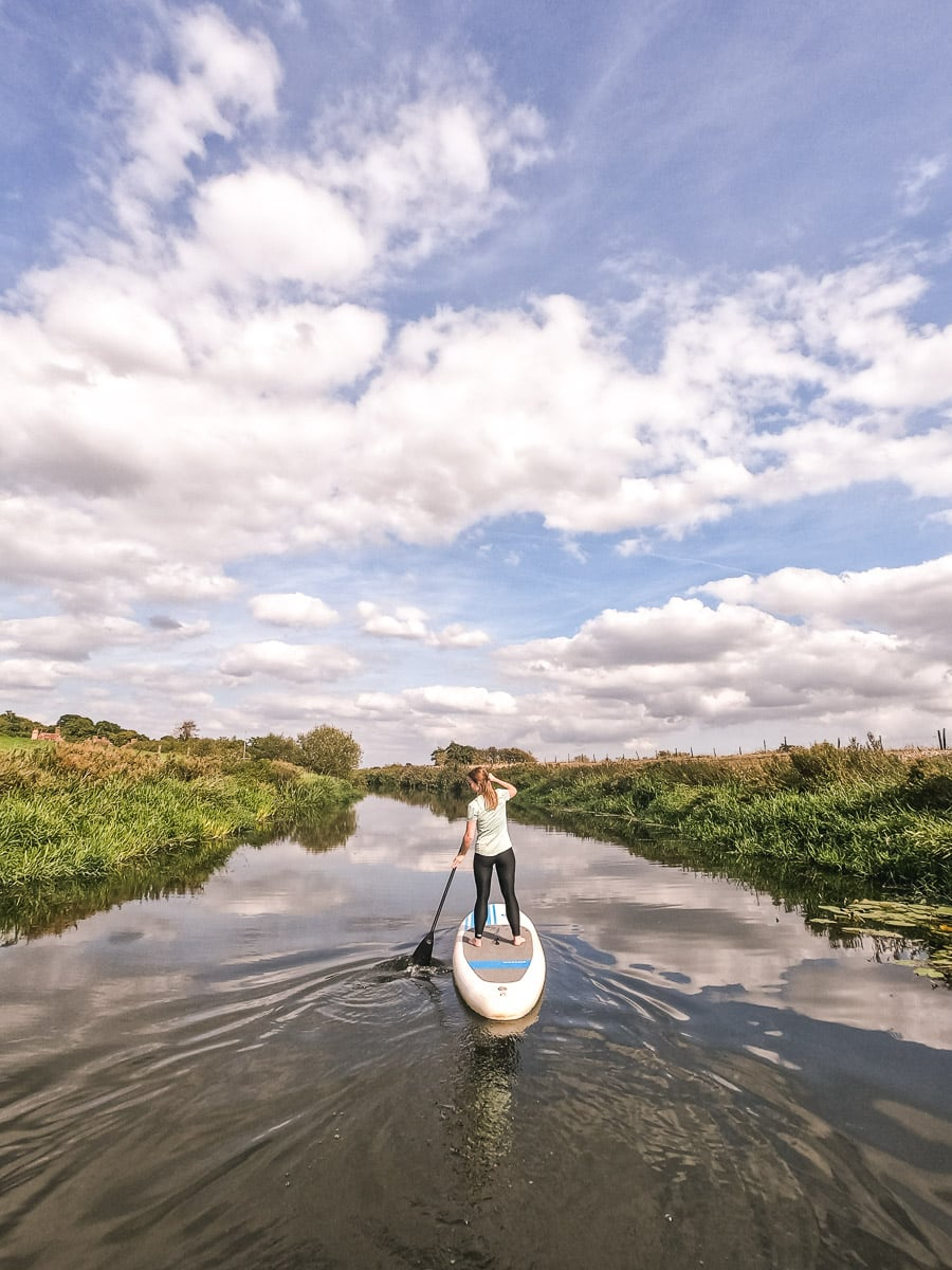 Paddle boarding from Bodiam Boating Station