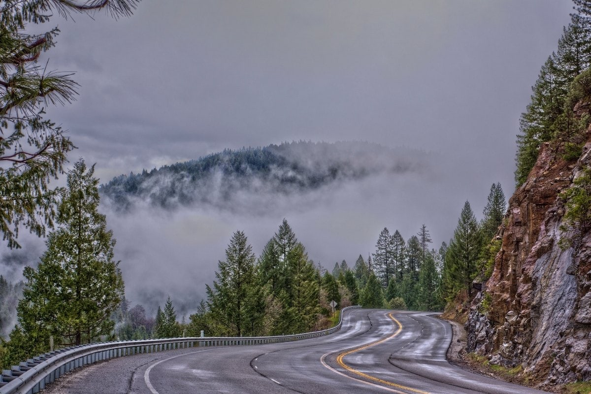 Taking a road trip is one of the best things to do in Lake Tahoe in winter