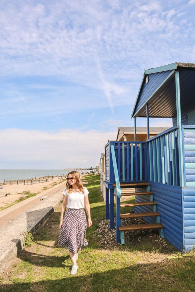 So many colourful beach huts