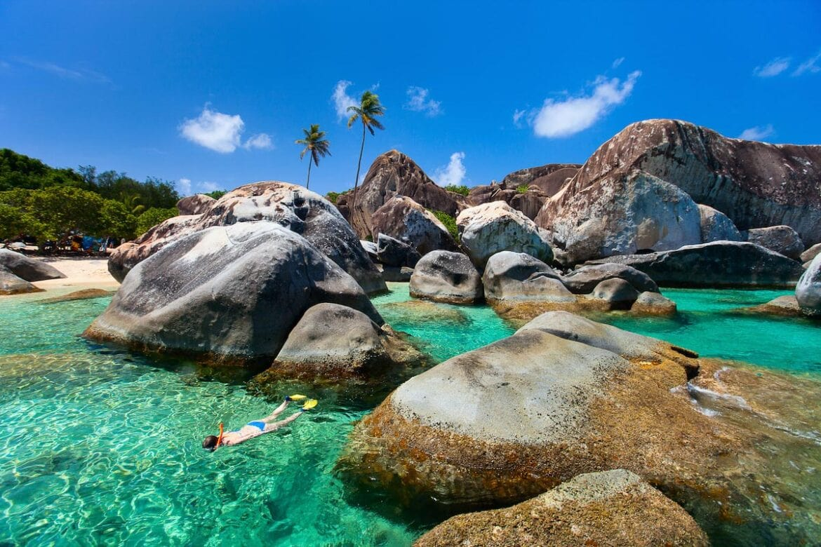 British Virgin Islands, Caribbean - one of the best places for winter sun