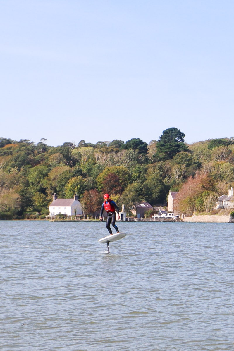 eFoiling on the Menai Strait, Anglesey