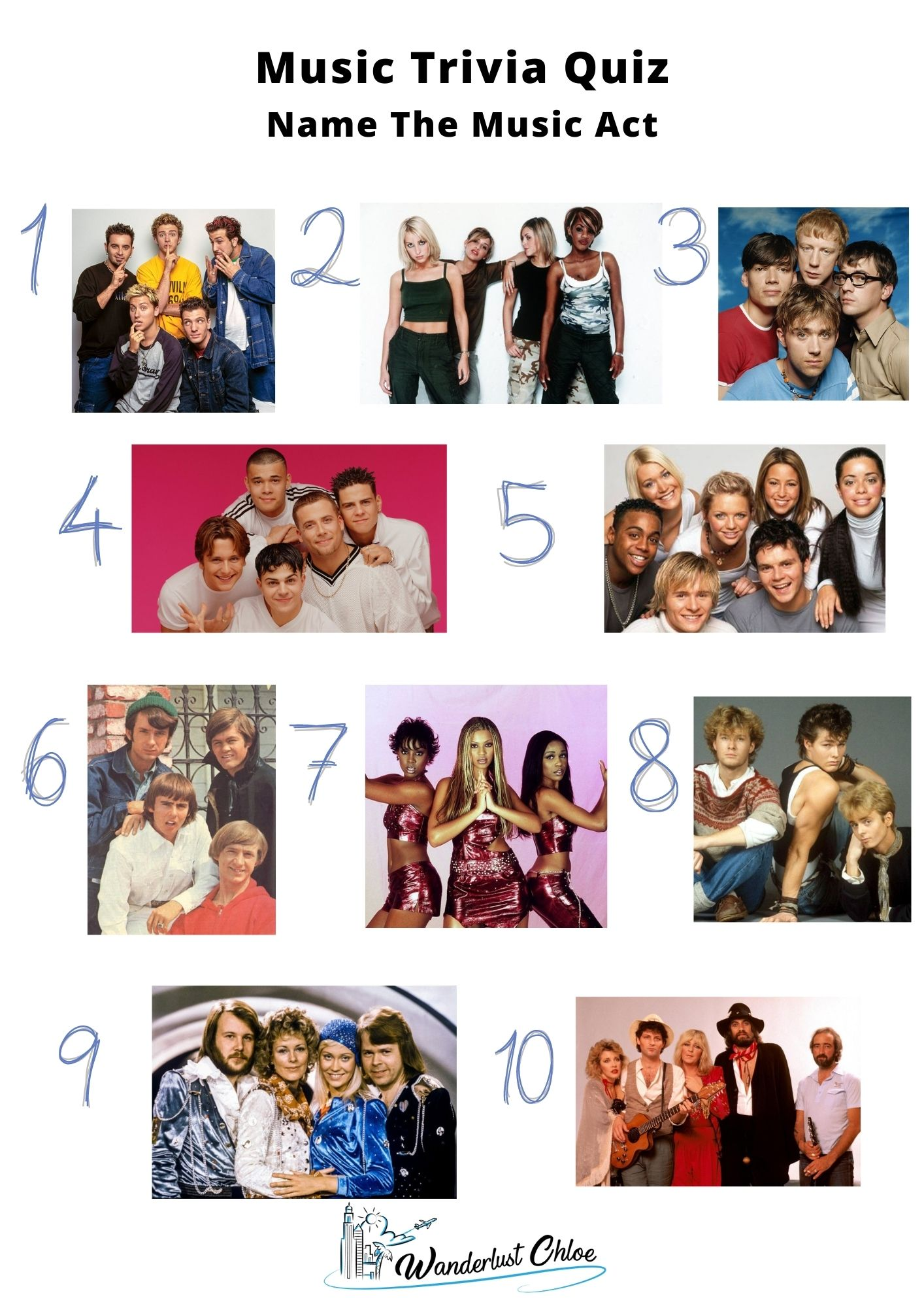Music Trivia Quiz - Picture Round