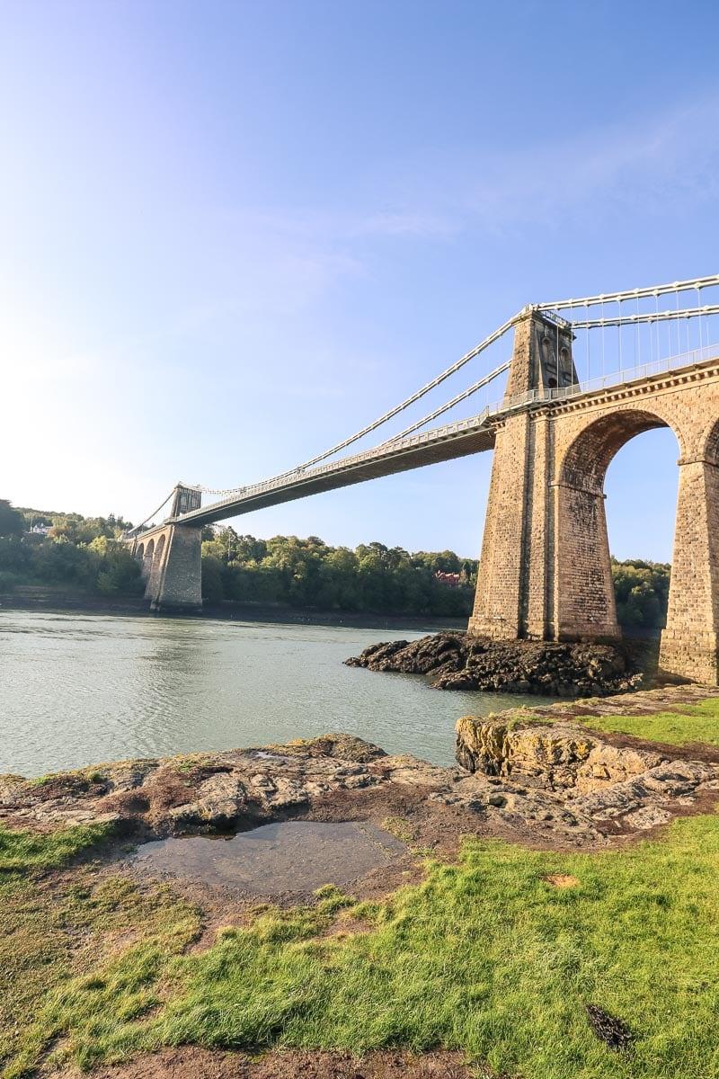 Menai Bridge linking Anglesey to the mainland