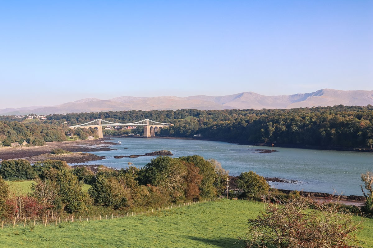 View of the Menai Bridge from Anglesey