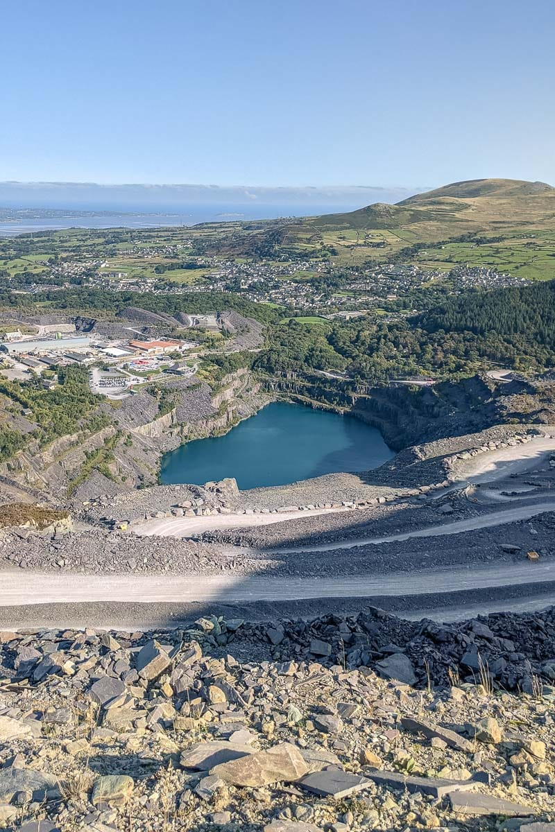 Overlooking Penrhyn Quarry at ZipWorld