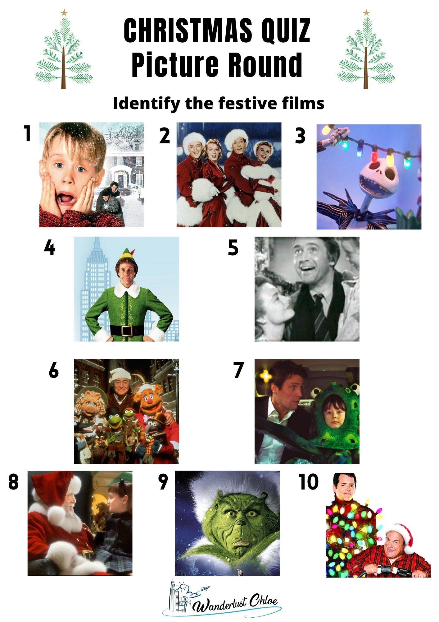 Christmas Picture Quiz - Christmas Movie Round