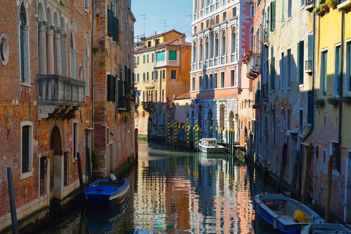 Colourful buildings in Venice