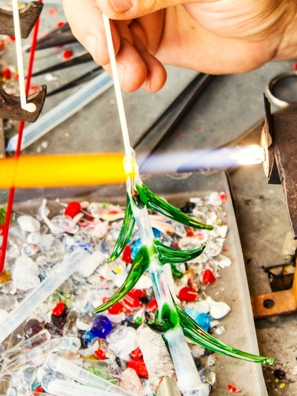 Glass blowing in Murano, Italy