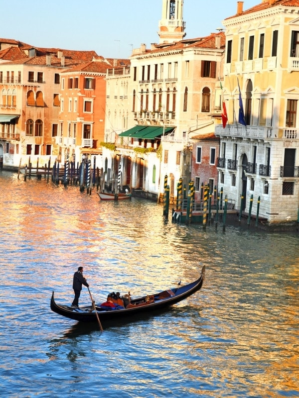 Gondola on the Grand Canal in Venice