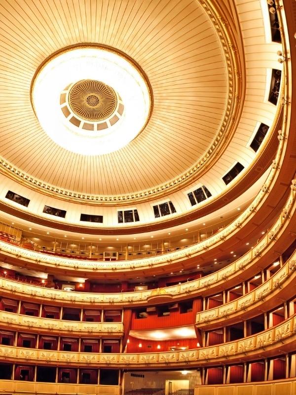 Beautiful interior of Vienna State Opera House