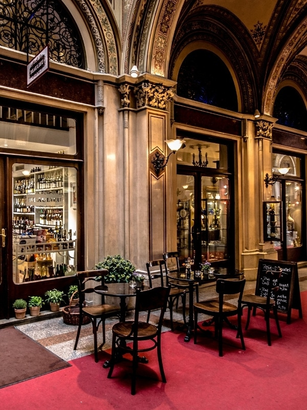 Traditional cafe in Vienna
