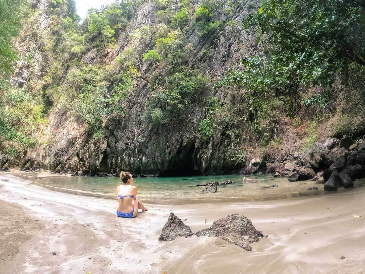Inside the Emerald Cave on Koh Mook