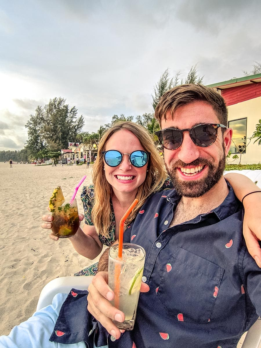 Our very first cocktail in Koh Lanta