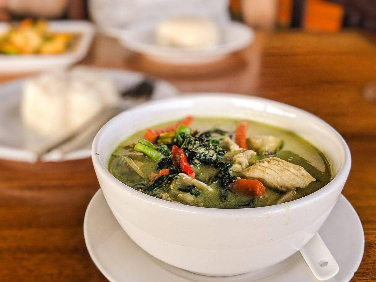 Thai green curry in Koh Lanta