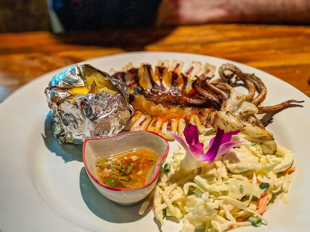 BBQ squid in Koh Lanta