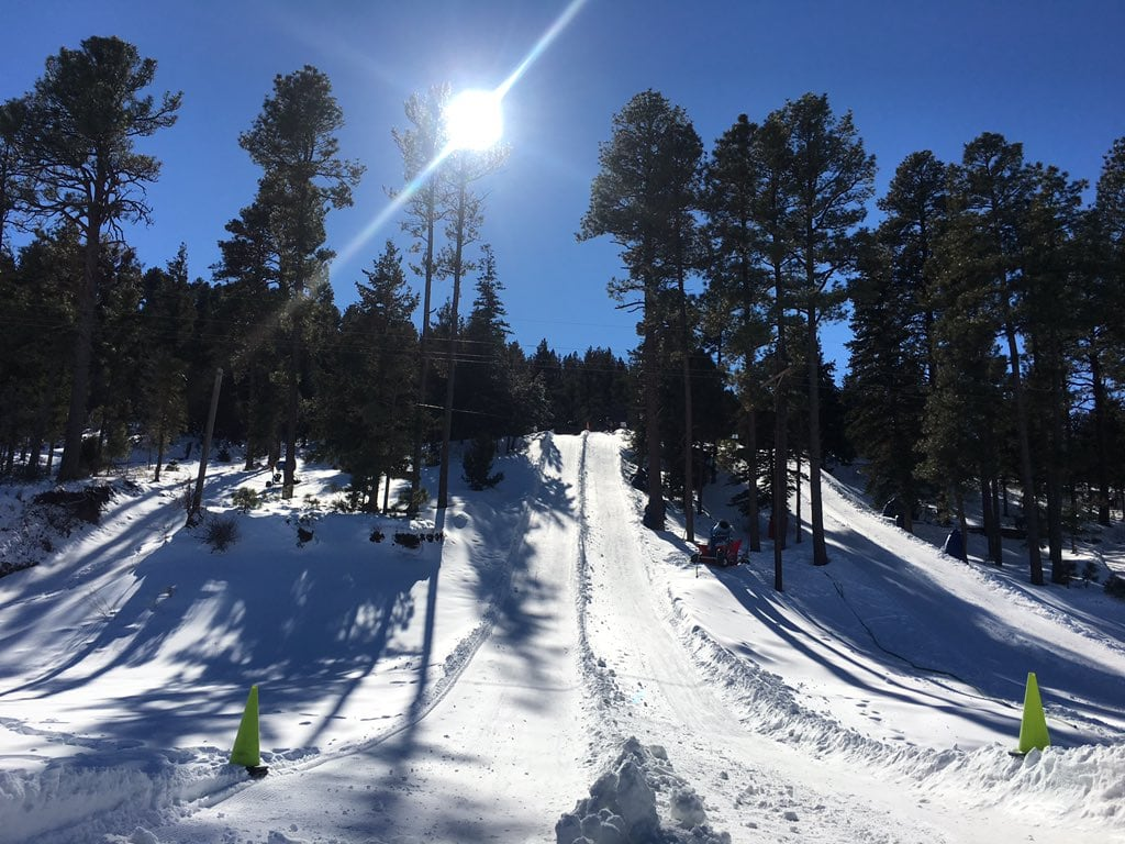 Snow tubing runs at Ruidoso Winter Park