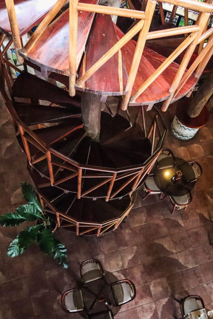 The incredible spiral staircase at Lapa Rios Costa Rica