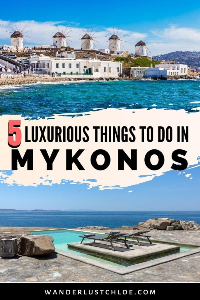 Luxurious Things To Do In Mykonos