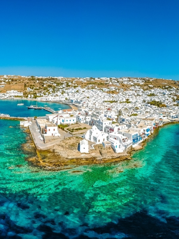 See the island from the skies on your luxury holiday in Mykonos