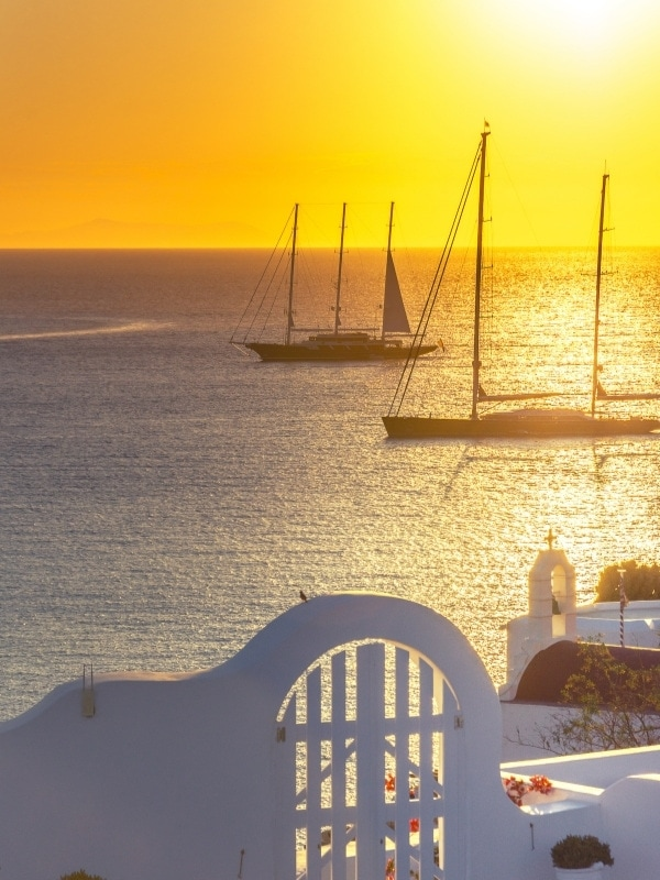 Enjoy a sunset yacht cruise on your luxury holiday in Mykonos