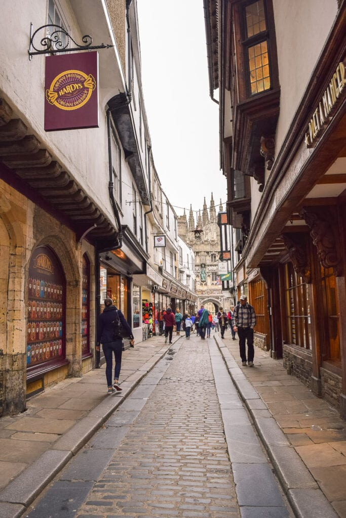 shopping streets in canterbury kent