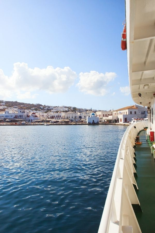 how to get to mykonos by ferry