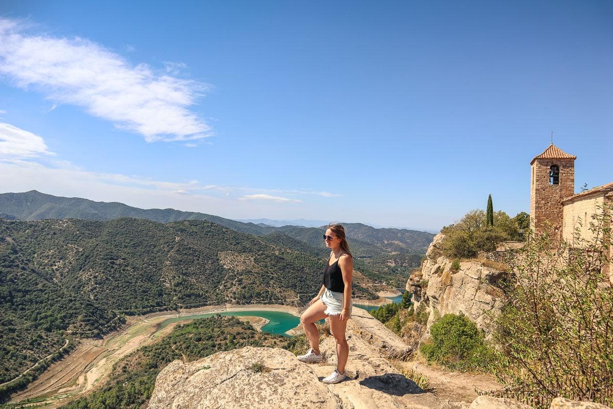 catalonia road trip view from siurana