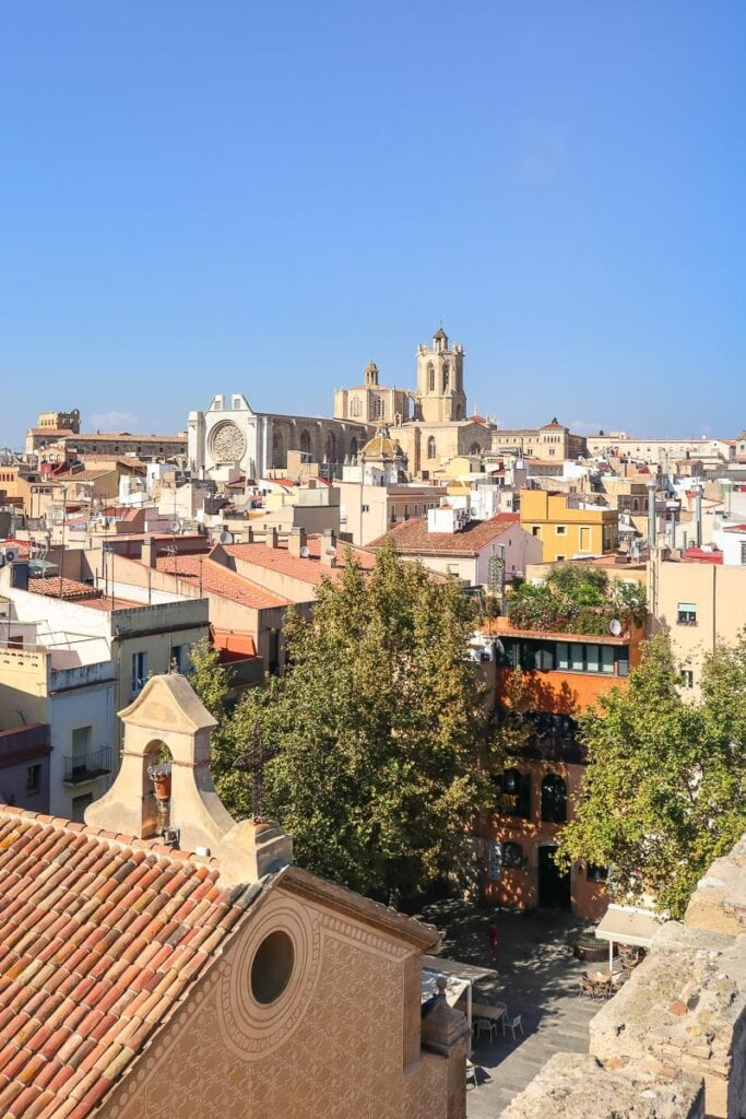 View of Tarragona from the museum terrace
