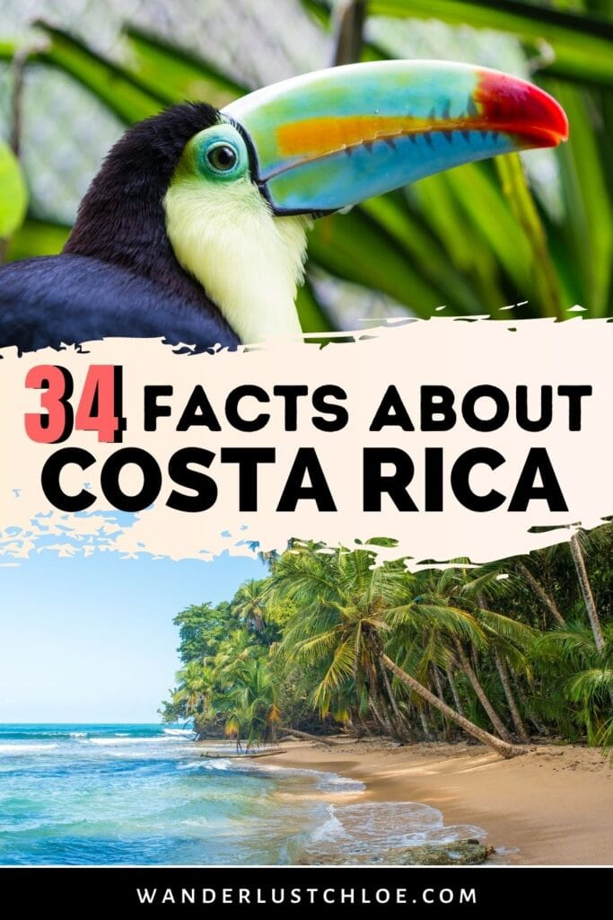 34 facts about Costa Rica