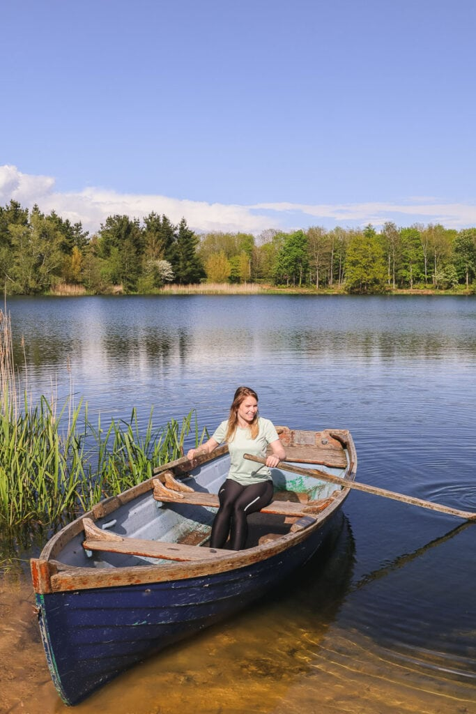 Rowing at Log House Holidays in the Cotswolds