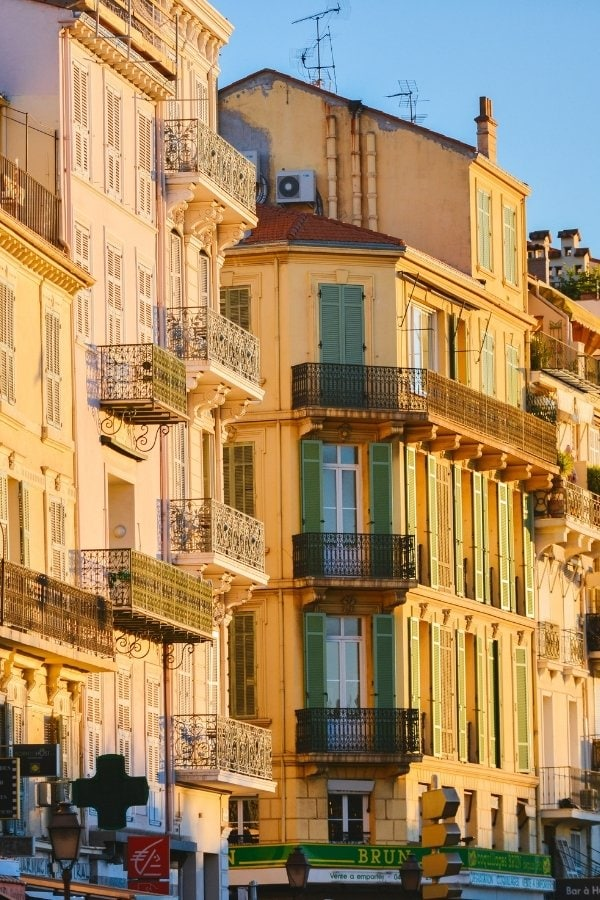 Pretty buildings in Cannes, France