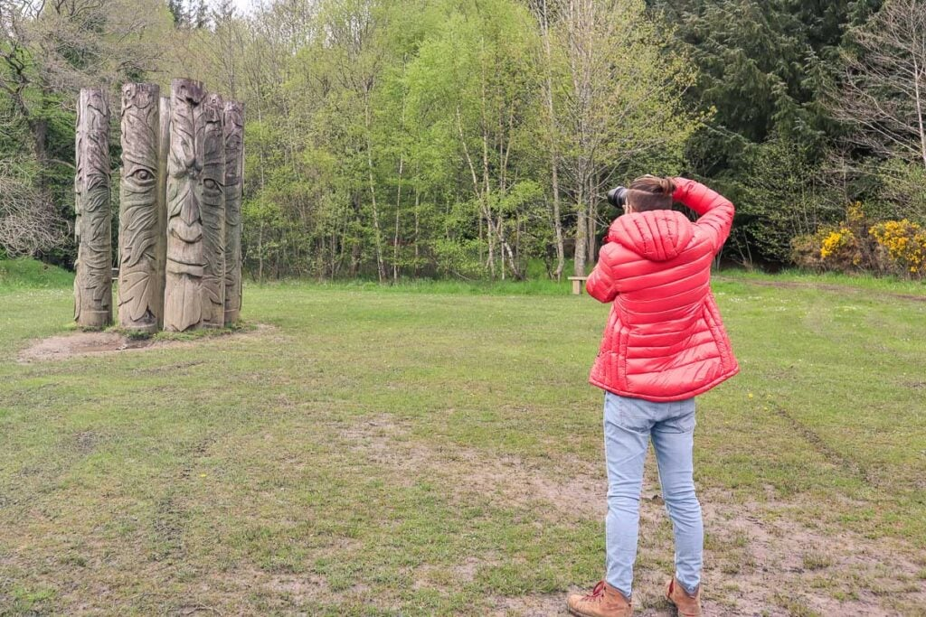 Discovering artworks at Hamsterley Forest in Durham