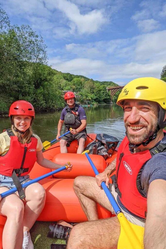 Mini-rafting in Ironbridge