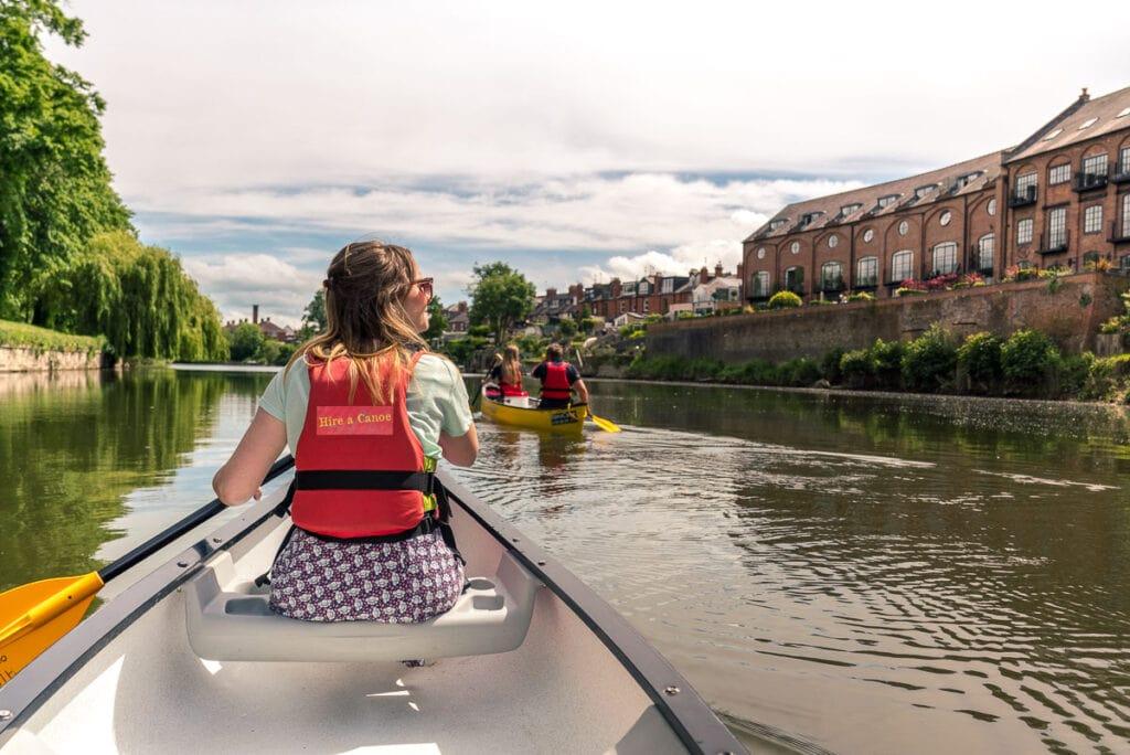 Canoeing in Shrewsbury
